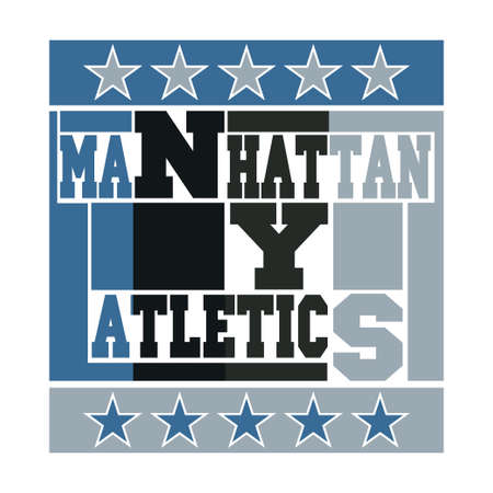 New York typography, design graphic, t-shirt printing man NYC, original design clothing, sport clothing, graphic design, original emblem