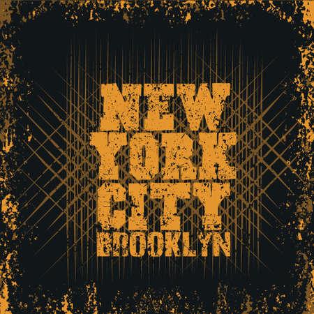 New York typography, t-shirt brooklyn, design graphic, printing man NYC, original design clothing, clothing, graphic design, emblem