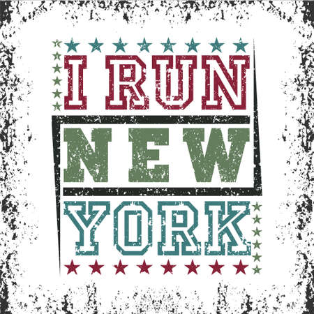New York typography, design graphic, t-shirt printing man NYC, original design clothing, clothing, graphic design, emblem