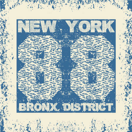 T-shirt New Yorkl, brooklyn sport, sport design, new york fashion, typography, graphics, stylish printing design for sportswear apparel. original wear. Concept in modern style for print production