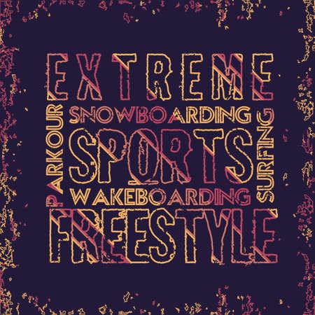 T-shirt extreme, athletics Typography, Fashion sports, sport design the logo, graphic print image, design fashion Typography, original design clothing