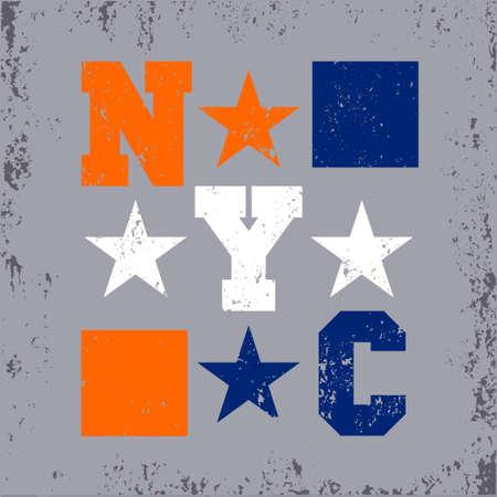 New York typography, design graphic, t-shirt printing man NYC, original design clothing, clothing, graphic design, emblem