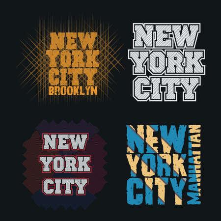 set t-shirt, New York typography, design graphic, printing man NYC, original design clothing, clothing, graphic design, emblem