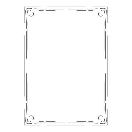 vector image, decorative ornamental frame, original design