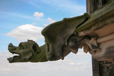 a chimaera on Ulm Cathedral photo