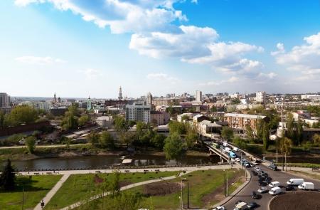 kharkov: panorama of Kharkiv, Gagarina ave