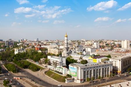 kharkov: Uspenskij cathedral_Rosy Luxembourg square, Kharkiv, Ukraine Editorial