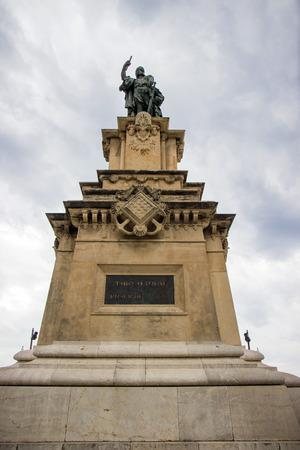 balcon: Roger De Lauria Statue on the Balcon Tarragona Spain Stock Photo