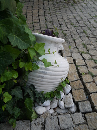 oldstyle: old-style greek amphora laying on earth