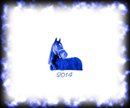 happy new year 2014 winter Stock Photo - 24639625