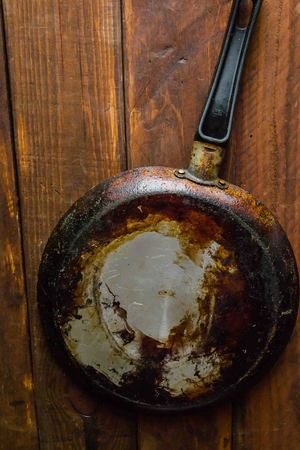 dirty pan for frying