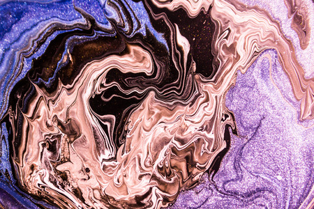 paint mixed with a component, marble surface, abstraction