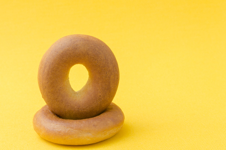 bagel, a product in the form of a torus from wheat dough