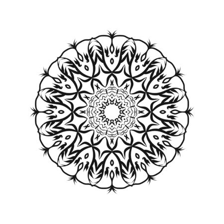 Mandalas for coloring book. Decorative round ornaments. Unusual flower shape. Oriental vector, Anti-stress therapy patterns. Weave design elements. Yoga logos Vector. Çizim