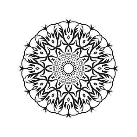 Mandalas for coloring book. Decorative round ornaments. Unusual flower shape. Oriental vector, Anti-stress therapy patterns. Weave design elements. Yoga logos Vector. Ilustração