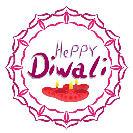 Elegant greetings vector illustration for indian festival diwali celebrations. Can be used for advertisement, poster, banner and backgrounds. Happy Diwali 일러스트