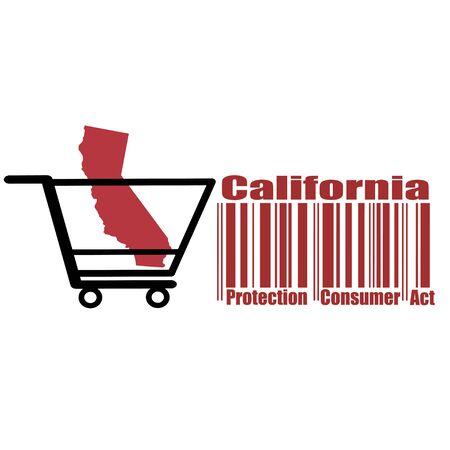 California Consumer Protection Act oder CCPA Flat Barcode Vector Icon für Anwendungen und Websites Vektorgrafik