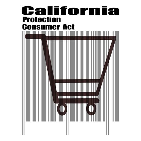 California Consumer Protection Act or CCPA Flat Barcode Vector Icon for Applications and Websites Illustration