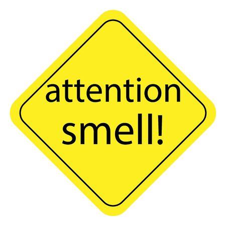 pungent warning sign. prohibition sign on a white background. vector graphics for design Ilustração