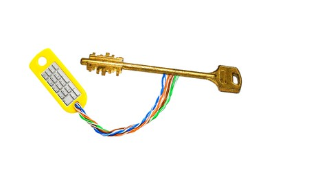 numpad: Electronic golden key with numpad