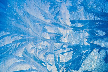 icily: Ice on Window, in blue filter