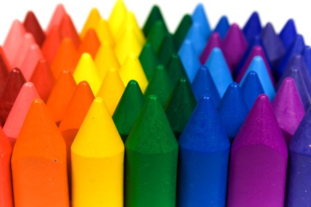 Mixed group of wax crayons several colors Stock Photo - 4463168