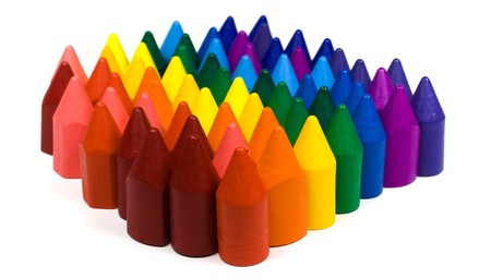Mixed group of wax crayons several colors Stock Photo - 4463048