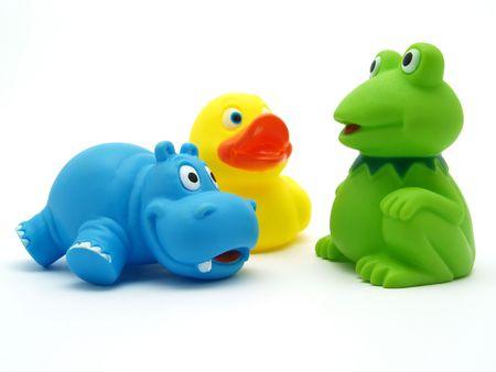 plastic toys isolated on white background      Stock Photo