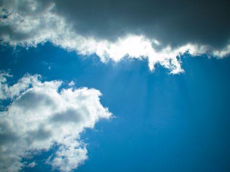 oxigen: cloudy sky with sunshine sun blue skyscape