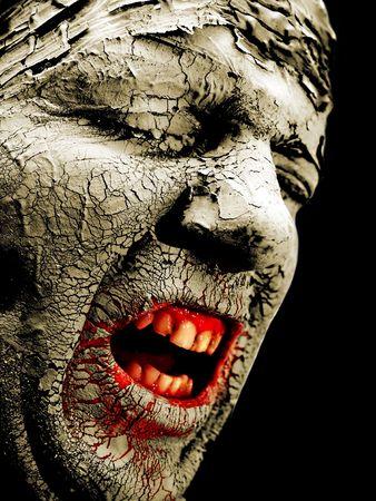 sapless: dolore volto di un uomo su sfondo nero