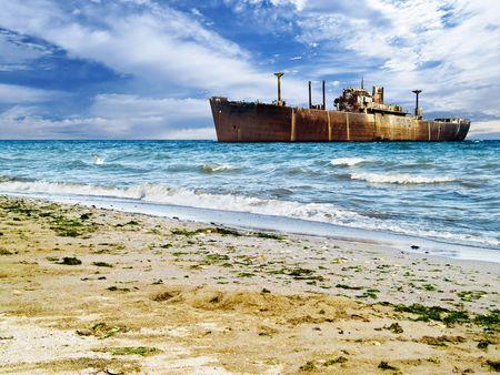 Costinesti Constanta shipwreck in the sea picturesque