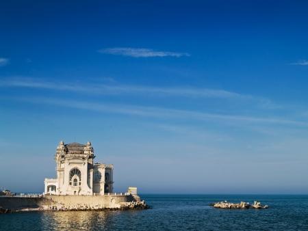 Constanta Casino seaside Black Sea terrace water Stock Photo