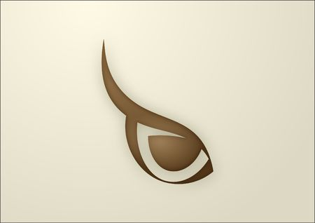 brown eyes: shaped brown owl eye minimalist isolated