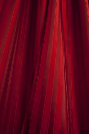 up lighted red curtain as a background