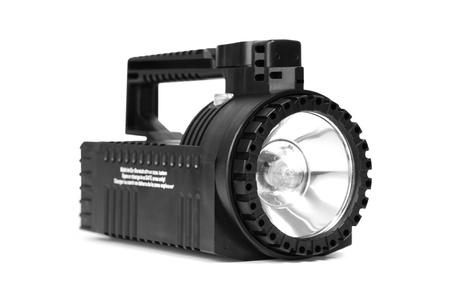 isolated black flashlight on a white background