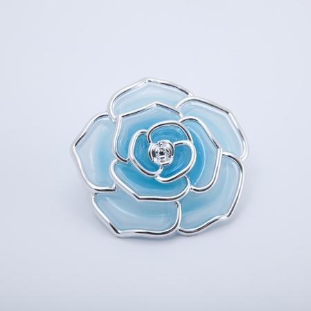 isolated blue rose jewel on white background