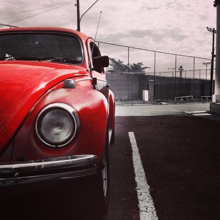 seniority: original old red car collector rarity