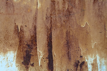rusty painted metal surface aging photo
