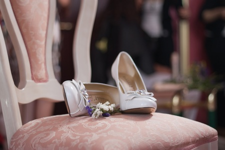 bridal shoes are a symbol of the wedding photo