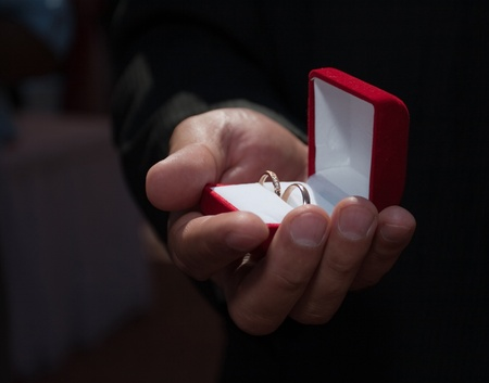 vows: Wedding rings are the symbol of its Stock Photo