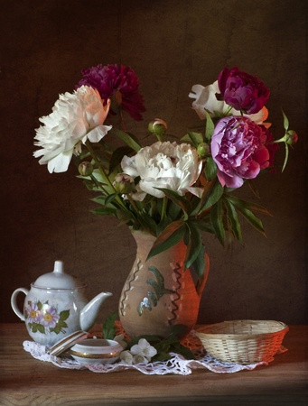 vase: Still Life with Peonies