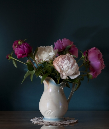 Still Life with Peonies Stock Photo - 11544525