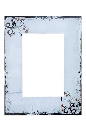 Photo frame on wiht Standard-Bild