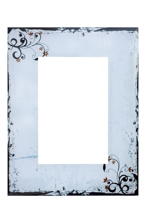 Photo frame on wiht Stock Photo