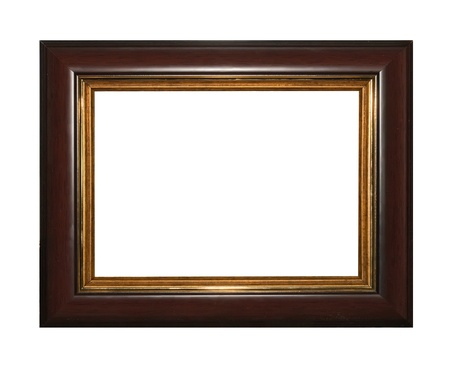 matted: Frame broun isolated on white