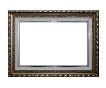 Frame of Baget isolated on white photo