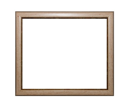painted wood: Frame of Baget isolated on white Stock Photo