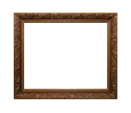 matted: Frame of Baget isolated on white Stock Photo