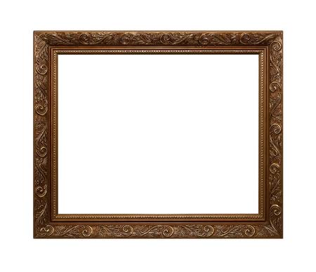 Frame van Baget op wit wordt geïsoleerd Stockfoto