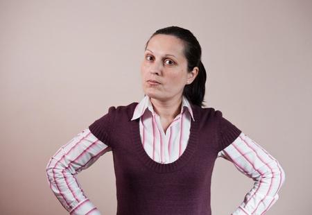 thinking busineswoman photo
